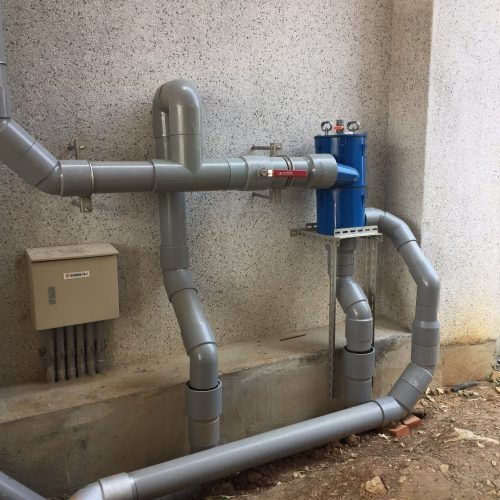 電力公司使用 - 6吋離⼼式雨水回收過濾器